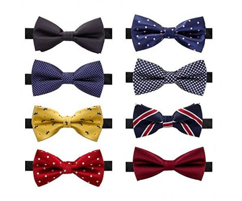 AUSKY Elegant Adjustable Pre-tied Bow Ties