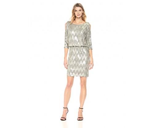 Jessica Howard Women's Cold Shoulder Blouson Dress
