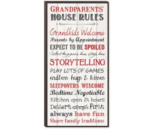 Grandparents House Rules Decorative Wall Art