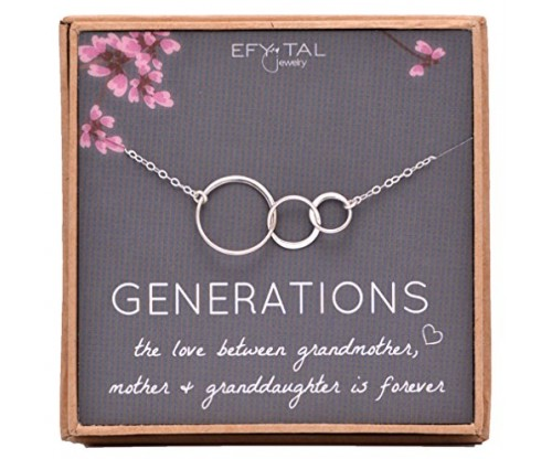 Generations Necklace for Grandma (Sterling Silver)