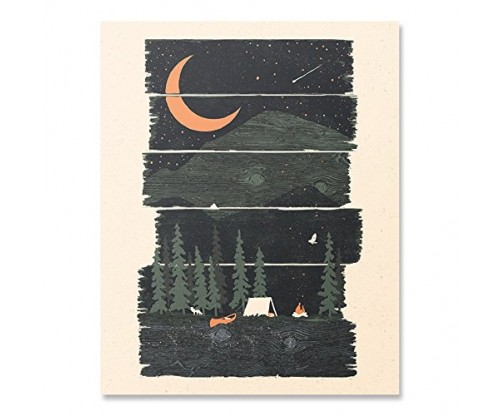 Wilderness Camping Lover Art Print Hiking