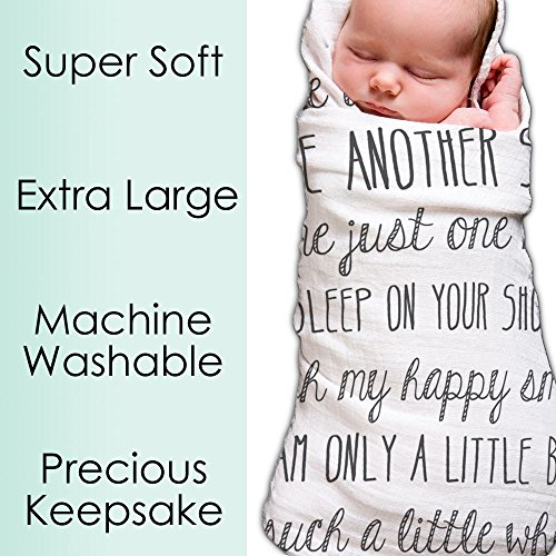 Baby Swaddle Blanket With Quotes By Ocean Drop Designs Tsg