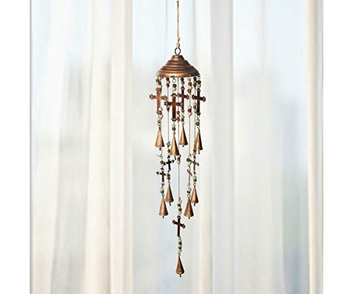 Bells, Beads, and Crosses Wind Chime