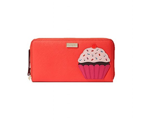 Kate Spade Take The Cake Cupcake Neda Continental Zip Wallet