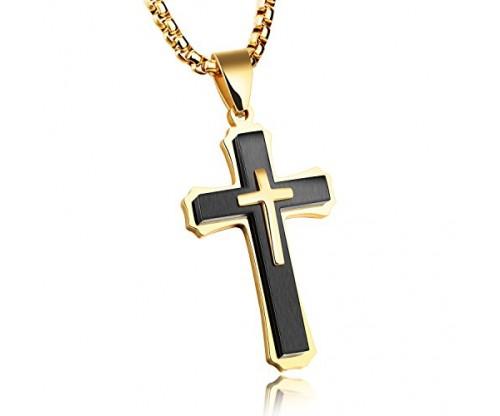 INSEA Unique Stainless Steel Crucifix Metal Pendant