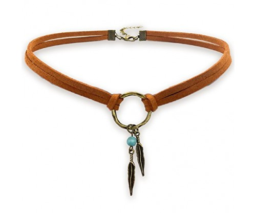 Suede Choker Necklace for Women