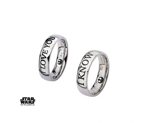 Star Wars I Love You and I Know Set of Rings