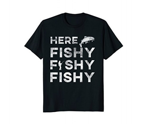 Funny Fisherman Gift Here Fishy Fishy Fishy Trout T-Shirt