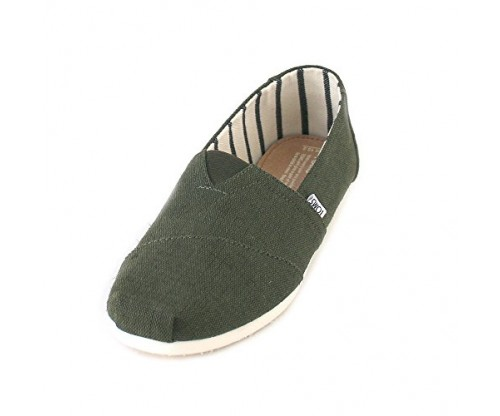 TOMS Women's Classic Linen Rope-Sole Slip-Ons