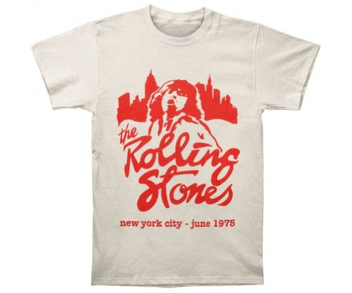 Bravado The Rolling Stones Mick June 1975 T-Shirt – Beige