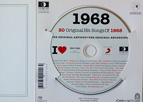 1968 I Love Compilation Music Hits CD