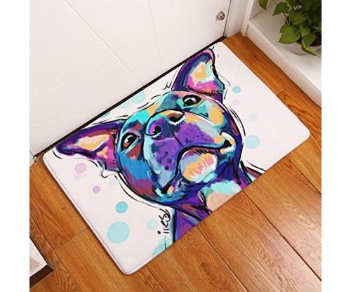 YJ Bear Thin Purple Puppy Dog Pattern Floor Mat