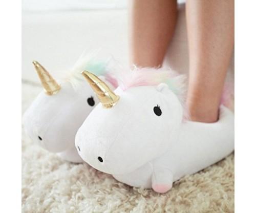 Smoko Plush Buddies Unicorn Shaped Slippers