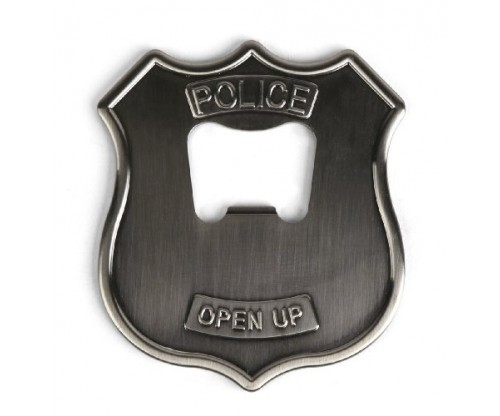 Kikkerland Police Badge – Stainless Steel Bottle Opener