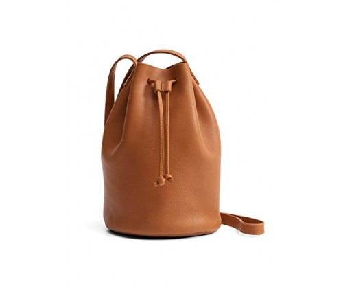 BAGGU Drawstring Leather Purse