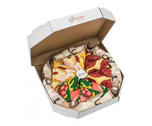 PIZZA SOCKS BOX: 4 pairs (MIX Hawaii Italian Pepperoni)