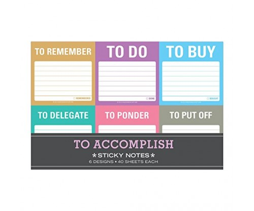 Knock Knock To Accomplish Sticky Notes Packet