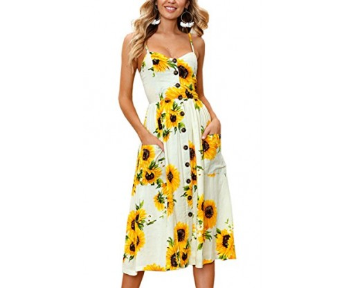 Angashion Women's Dresses: Summer Floral