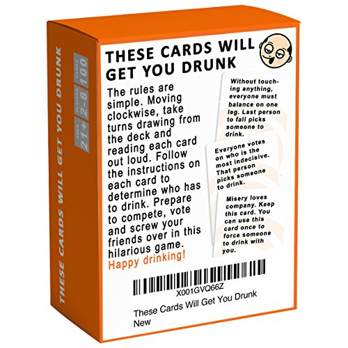These Cards Will Get You Drunk Fun Adult Drinking Game For Parties