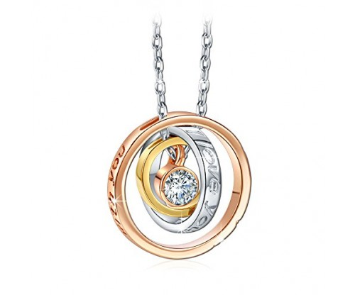 I Love You Mom Necklace With Engraved Pendant