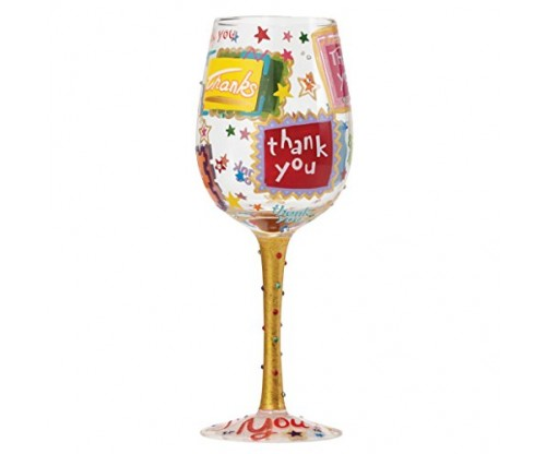 Lolita Designs: Thank You Wine Glass
