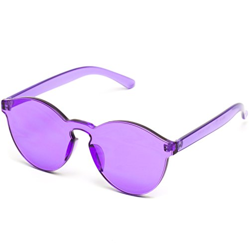 3d7db182545 Purple Round Retro Sunglasses - No Frames