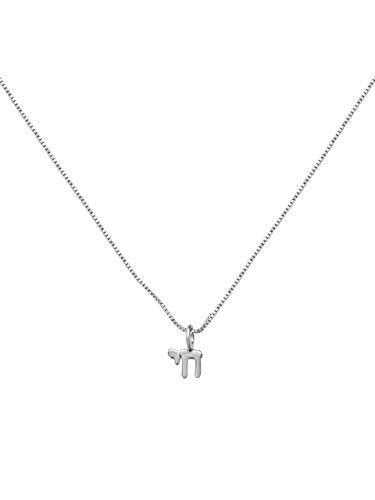 7f822108343c2 Tiny Hebrew Jewish Dainty Chai Necklace | ThatSweetGift