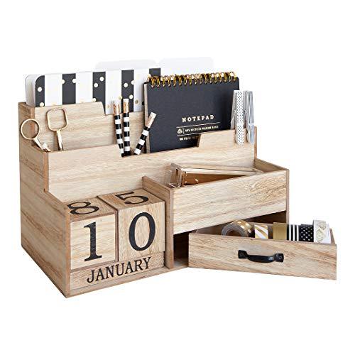Feathergrain Wooden Desktop Organizer   The Container Store  Desktop Mail Organizer For Kitchen