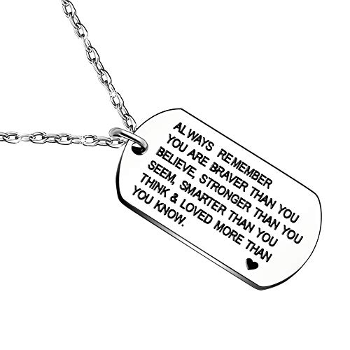 610739a2b94 Remember You are Braver Than You Think Necklace | ThatSweetGift