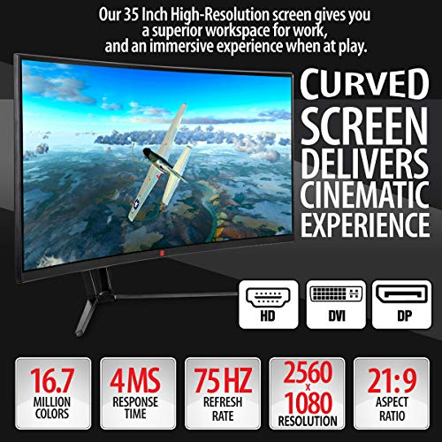 Deco Gear 35 Curved Ultrawide LED Gaming Monitor | ThatSweetGift