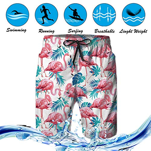 Mens Swim Trunks Summer 3D Print Cute Animals Pattern Casual Athletic Swimming Short