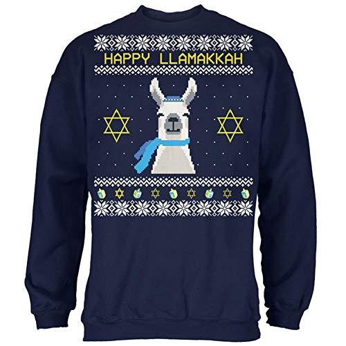 Llama Llamakkah Ugly Hanukkah Sweater All Over Toddler Ankle Socks