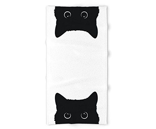 Society6 Black Cat Bath Towel