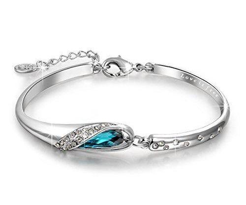 Swarovski Blue Crystal Bracelet