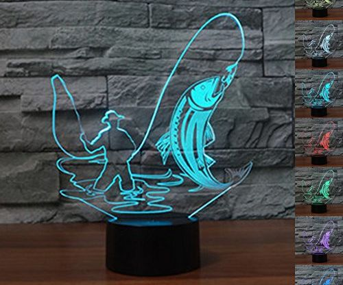 LED Night Light 3D Illusion Bedside Table Lamp in 7 Colors