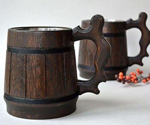 Handmade Wooden Beer Mug
