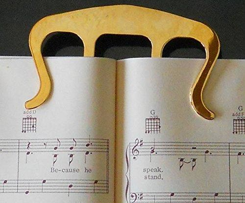 Gold Clip Music Book Mark