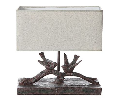 Creative Co-op Resin Bird Lamp