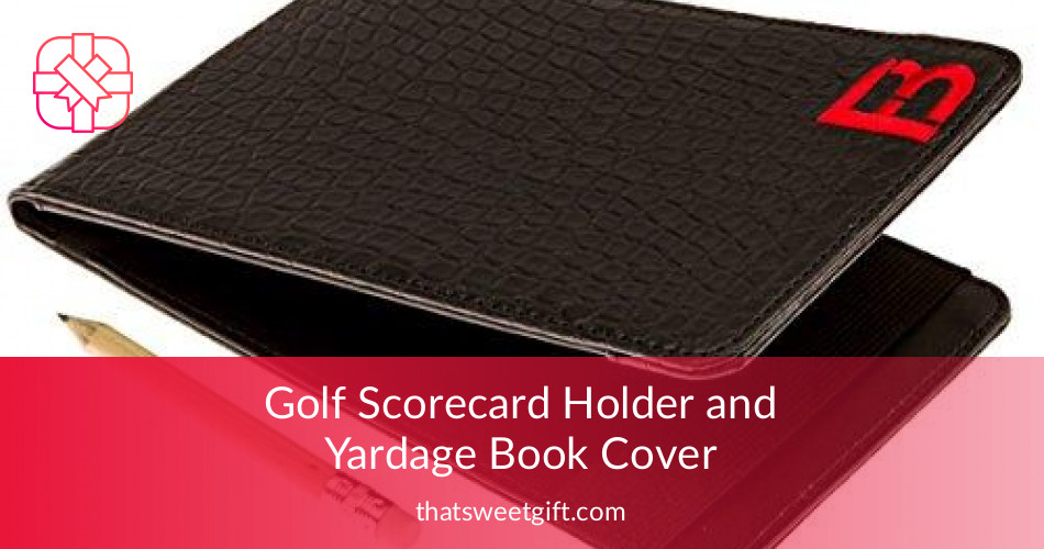 Cookbook Holder With Cover : Golf scorecard holder and yardage book cover thatsweetgift