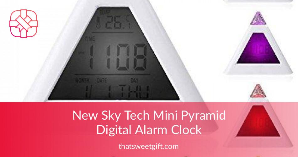Mini Pyramid Digital Alarm Clock For Stress Free Mornings Tsg
