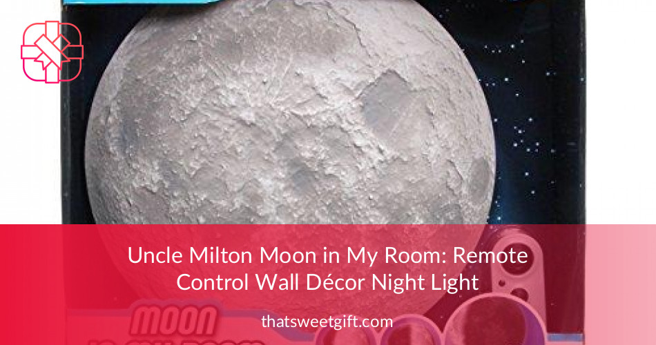 Uncle Milton Moon In My Room Remote Control Night Light