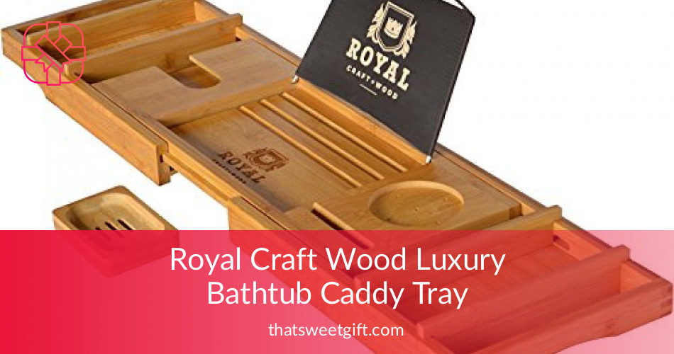 Royal Craft Wood Luxury Bathtub Caddy Tray in Bamboo | ThatSweetGift