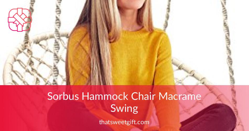Sorbus Hammock Chair Macrame Swing Thatsweetgift