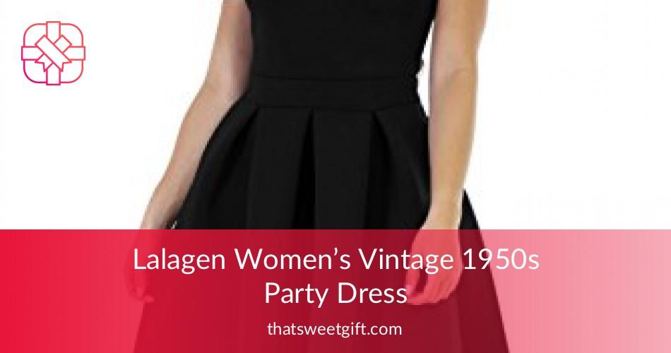 75512aa3f7 Lalagen Women s Vintage 1950s Party Dress