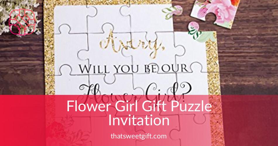 flower girl puzzle invitation customizable thatsweetgift