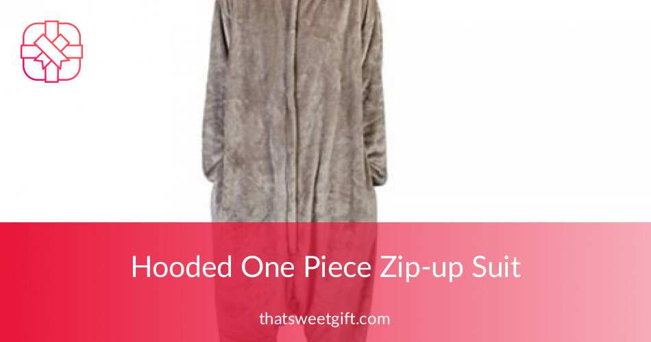 07c02f12bf09 Hooded One Piece Zip-up Suit - Unisex