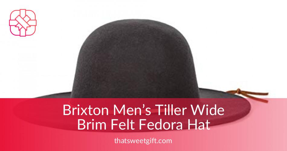78594a0505c Brixton Men s Tiller Wide Brim Felt Fedora Hat