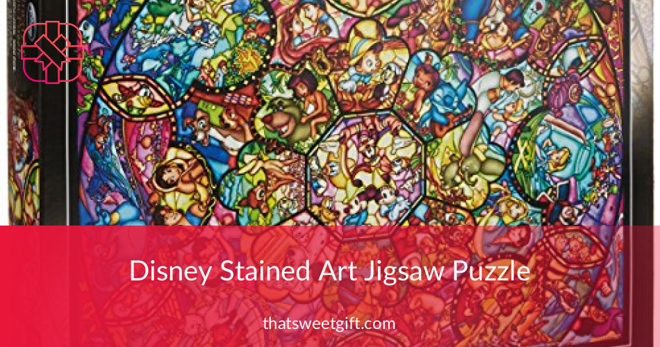 Disney Stained Glass Puzzle.Disney Stained Art Jigsaw Puzzle